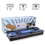 Spmywin 2323 HD Retro 3D Pandora's Key 7 Arcade Video Game Console 1080P Game System Supports 3D Games Smart List Function User Add Games Function Advanced CPU Mini Arcade (Color: Pandora's Key 7 2323)