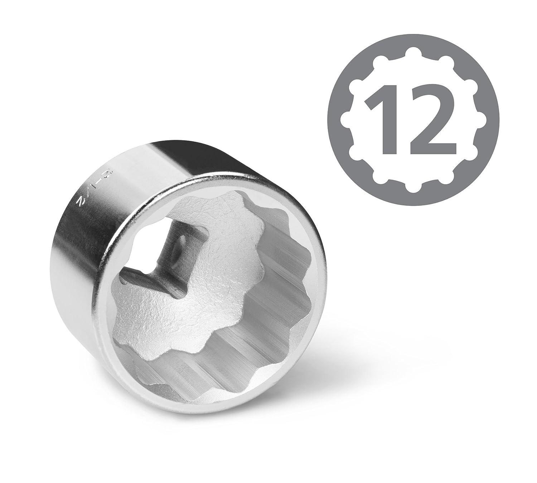 TEKTON 1120 1-Inch Drive Jumbo Socket Set, SAE, 21-Piece