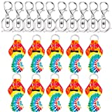 Yarachel Chapstick Holder Keychains with Metal Clip Cords Suitable for Chapstick Tracker and Safeguard (10 Pieces, Style D) (Color: Style D, Tamaño: 10 Pieces)
