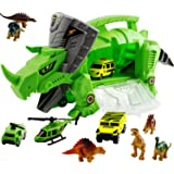 WolVol Perfect Dinosaur Storage Carrier for Your Dinosaurs and Cars (Includes Mini Dinosaurs and car Toys)