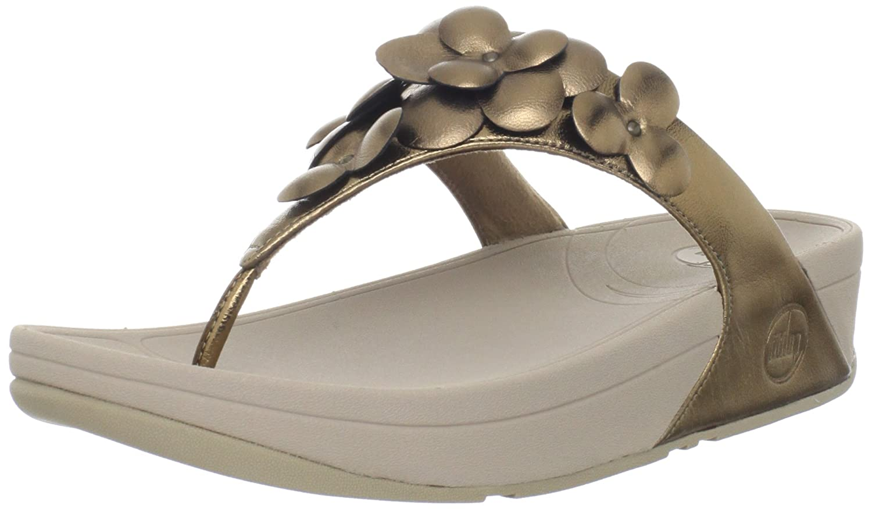 fitflop womens fleur sandal pale bronze