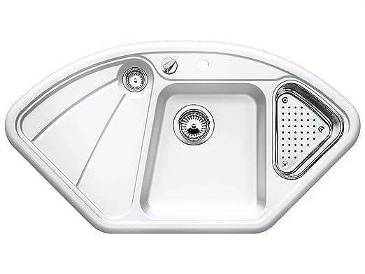Blanco Prion 45 S Alugrau Einbau Keramik-Sp/üle K/üchensp/üle Grau Auflagesp/üle