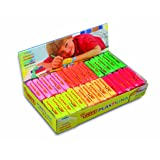 Jovi Plastilina Reusable Non-Drying Modeling Clay; 1.75 Oz. Bars, Set of 30, 5 Each of 6 Neon Colors, Perfect for Arts and Crafts Projects (Color: Neon, Tamaño: Set of 30)