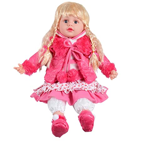 "Filles enfants 14 ""Cute Sitting Doll Dress Up - Avec Dress & Rose Jacket"