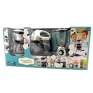 Kids Pretend Play Gourmet Kitchen Appliance 3 Piece Set