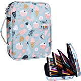 220 Colored Pencil Case Multi Pencil Holder Large Capacity Pen Organizer Bag for Watercolor Pencils, Markers,Gel Pens, Highlighters, Brushes, Great Gift for Students Painter Writers (Ice Cream) (Color: Ice Cream)
