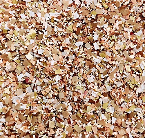 Dusty Peach Rose Gold Copper Confetti Mix Biodegradable Vintage Wedding Party Decorations Decor Throwing Send Off EcoFriendly Environmentally Friendly Compostable InsideMyNest (25 Handfuls)