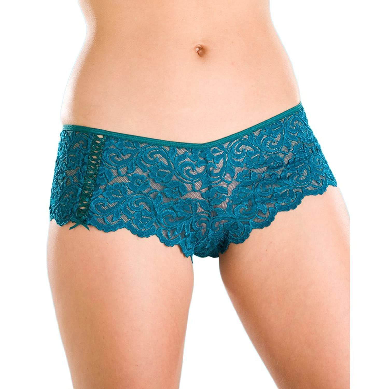 Damen Türkis Spitze Dessous Boxer Shorts jetzt bestellen