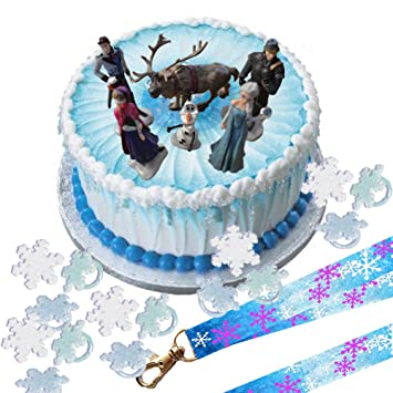 buy disney frozen cake decoration set topper figures rings on birthday cake toppers online india