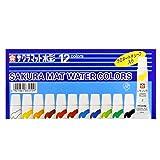 Sakura Color 12 Colors Paint mat Watercolor (5ml) Laminated Tubes containing EMW12