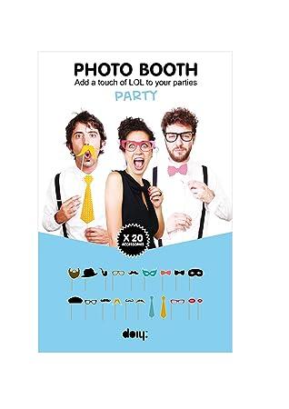 DOIY Foto-Zubehör Photo Booth 20er-Set