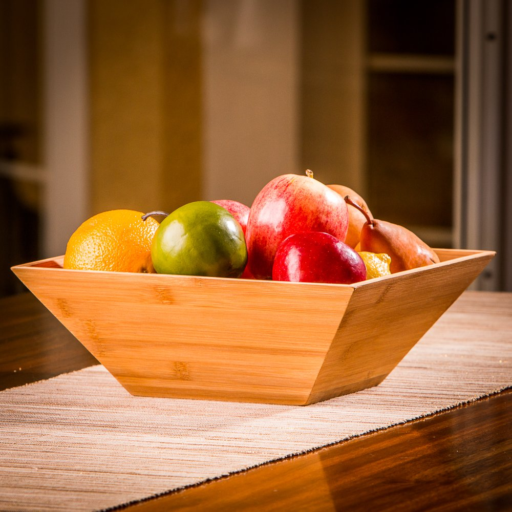 Wood Salad Bowl Best For Serving Salad, Pasta, and Fruit