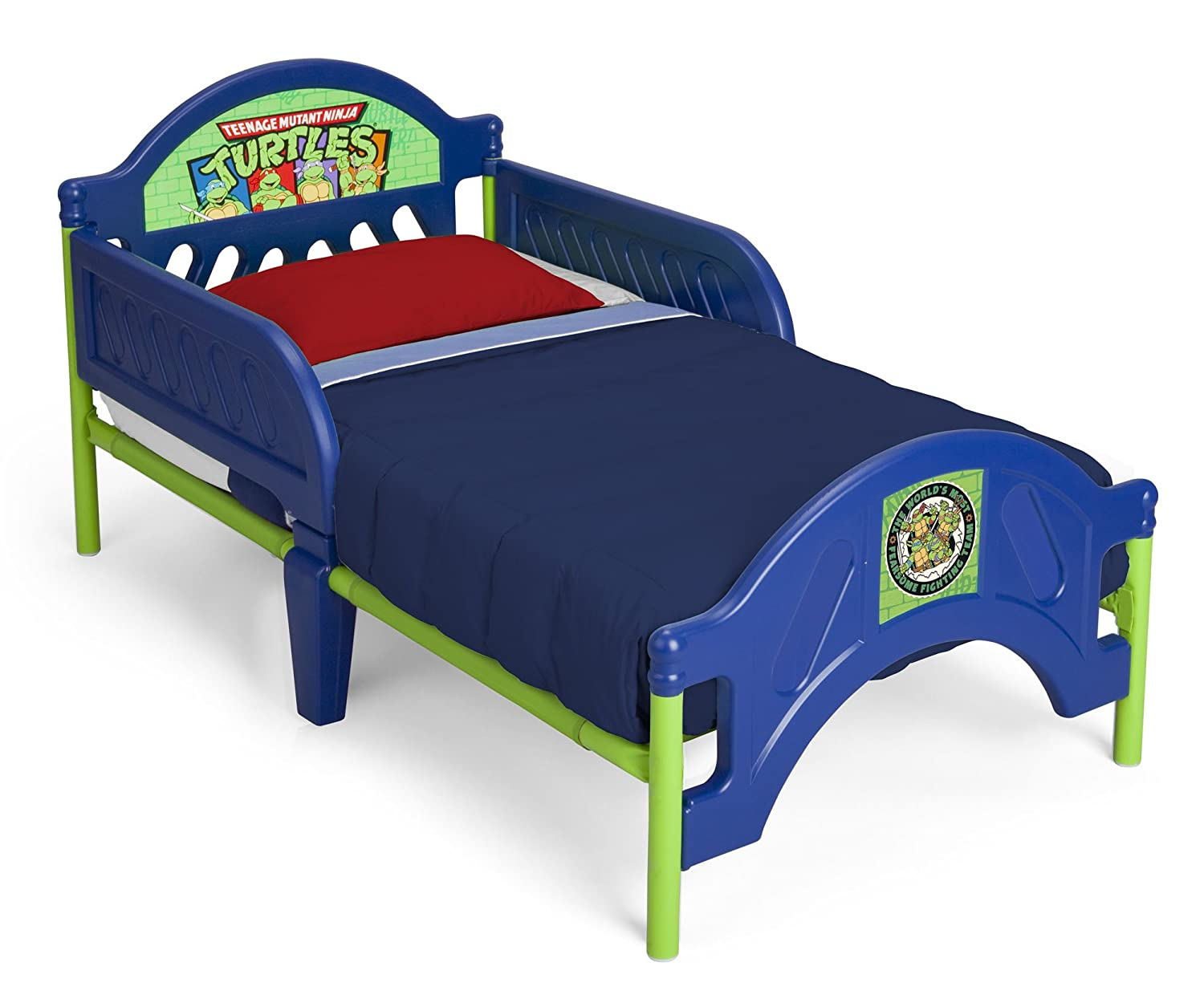 Plastic toddler bed ninja turtles child boys bedroom furniture paw patrol blue - Toddler beds for boys ...