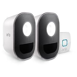 Arlo Home Security Starter Kit - Arlo Security Lights (2), Arlo HD camera kit (2), Outdoor Mount (1) (Tamaño: 2 Light Kit)