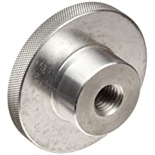 "Morton 6061 Aluminum Round Domed Knob, Knurled Rim, Threaded Hole, 5/8""-11 Thread Size x 1"" Thread Length, 3"" Diameter (Pack of 1)"