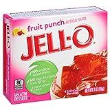 Jell-O Fruit Punch Gelatin Mix 3 Ounce Box