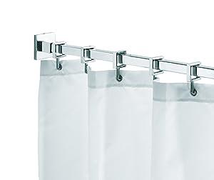 Croydex Eckige Duschvorhangstange mit Ringen, max. 2500 mm, Chrom    Kundenbewertung und weitere Informationen
