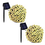 Binval Solar Fairy Christmas String Lights, 2-Pack 72ft 200LED, Ambiance Lighting for Outdoor, Patio, Lawn, Landscape, Fairy Garden, Home, Wedding, Ho