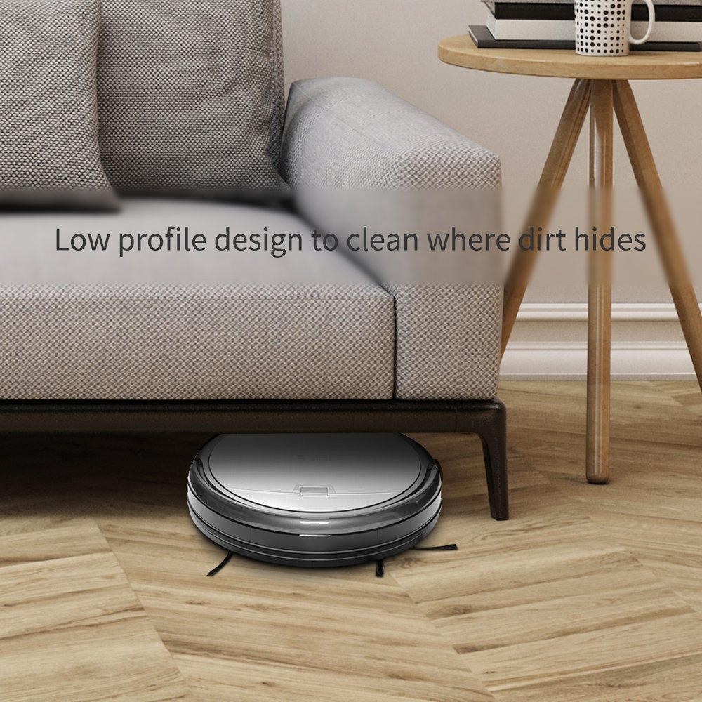 ILIFE A4s Robot Vacuum Cleaner, Smart Automatic Self-Charge Remote Control HEPA Filter for Thin Carpet and Hardwood Floor