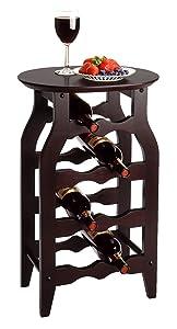 Winsome Wood Oval Wine Rack, Espresso