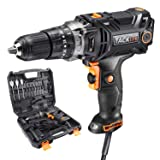 TACKLIFE Hammer Drill, Corded drill with Position Clutch, High Torque, 2 Variable Speed, Liquid Horizontal Bubble, Ideal for Drilling into Wood, Drywall, Metal and Tighten the Screws - PID04A (Color: Black & Orange)