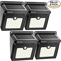4-Pack Baxia 28-LED Solar Powered Waterproof Wireless Motion Sensor Security Wall Lights