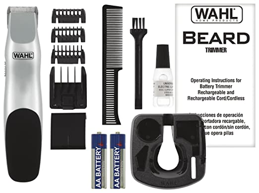 wahl groomsman cordless battery operated beard trimmer 9906 717 ebay. Black Bedroom Furniture Sets. Home Design Ideas