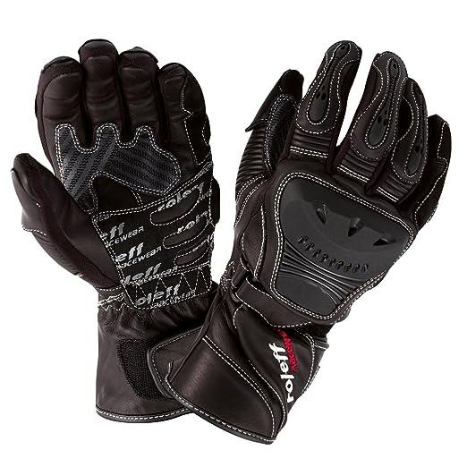 Roleff Racewear 854 Gants en Cuir, Noir, Taille : L