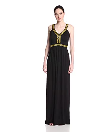 French Connection Women's Haute Jersey Maxi Dress, Black, 2