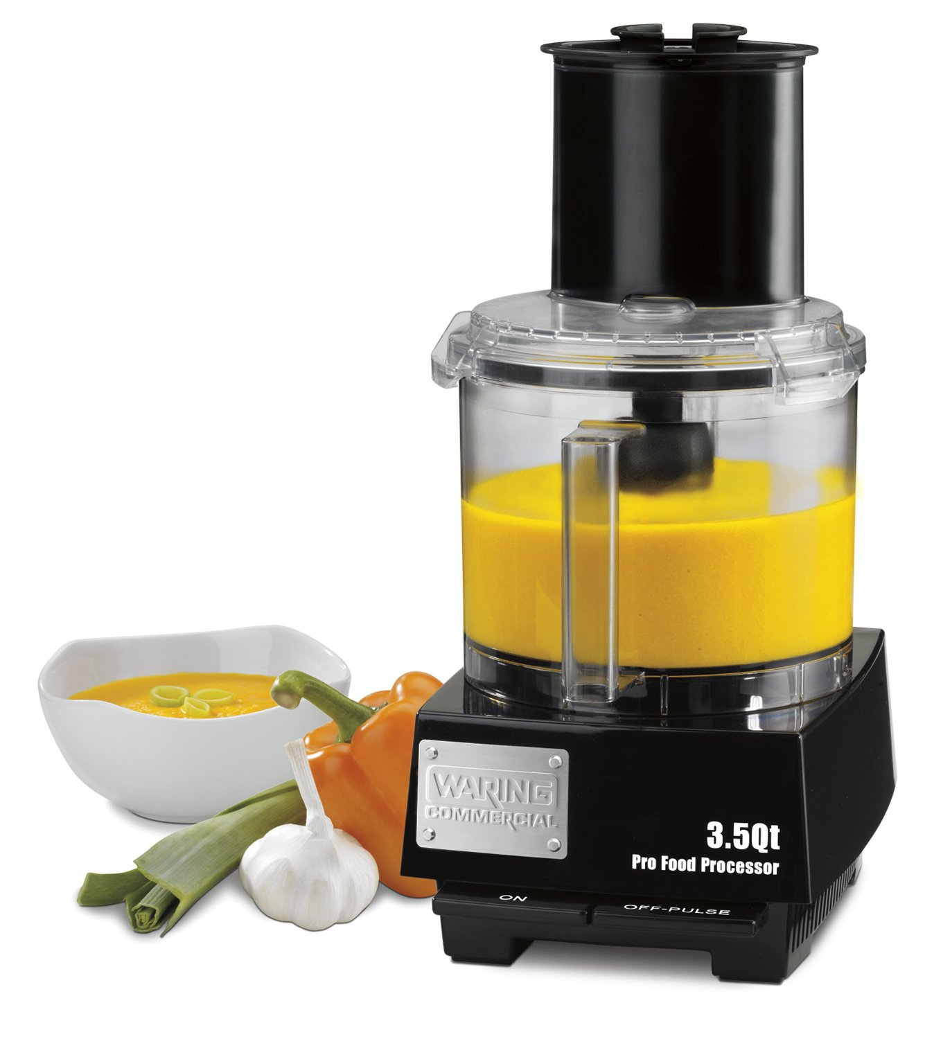 Waring Commercial WFP14S Batch Bowl Food Processor with LiquiLock Seal System 3-1/2-Quart