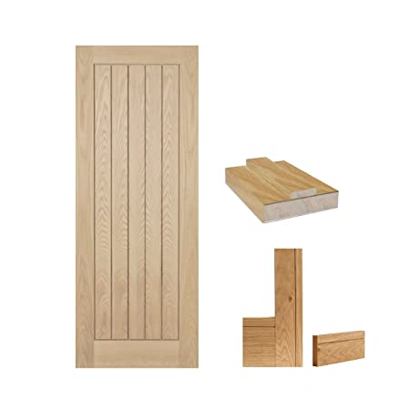 "Green Tree Doors Oak Mexicana Door Set - Door, Architrave & Door Lining (838mm (33"" x 78""))"