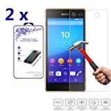 2x For Sony Xperia M5 Tempered Glass Screen Protectors , Nacodex® 9H Hardness, 2.5D Rounded Edges, 0.3mm Thickness [2 Pack] (For Sony Xperia M5) (Color: For Sony Xperia M5)