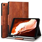 Antbox iPad 9.7 2018/2017 Case with Built-in Apple Pencil Holder Auto Sleep/Wake Function PU Leather Smart Cover for iPad 9.7 iPad 5th/6th Generation (Color: Brown)