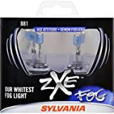 SYLVANIA - 881 SilverStar zXe Fog High Performance Halogen Fog Light Bulb - Bright White Light Output, HID Attitude, Xenon Fueled Technology (Contains 2 Bulbs) (Color: White)