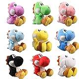 UiUoU Super Mario Bros. Set of 9 Yoshi Plush Toys 6