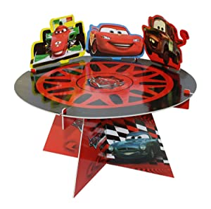 Procos - Soporte para tartas de cumpleaños infantil, diseño con los coches de Cars 2 de Disney   revisión y más información