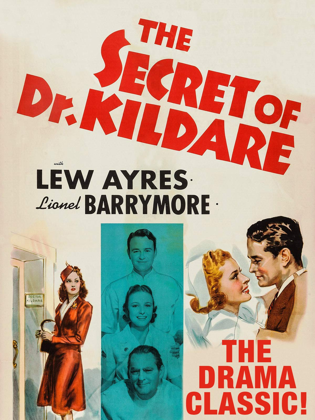Secret Of Dr. Kildare - Lew Ayres, Lionel Barrymore, The Drama Classic!