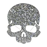 Ling's boutique(TM) Punk Style Skull Crystal Car Stickers,Decorate Cars Bumper Window Laptops Luggage Rhinestone Sticker,White (Skull) (Color: Skull)