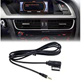 ELONN VW/Audi AMI MDI MMI AUX Cable(6ft),3.5mm Jack AMI MDI Cable Adaptor for Connecting Audi and VW to Cellphone MP3 (Tamaño: 3.5mm Plug)