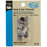 Dritz No-Sew Hook & Eye 1/2 Inch 4/Pkg-Nickel (Tamaño: 1 Pack)