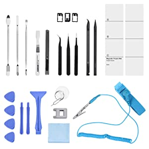 ORIA Precision Screwdriver Set, 86-in-1 Magnetic Repair Tool Kit, Screwdriver Kit with Portable Bag for 8, 8 Plus/ Game Console/ Tablet/ PC/ Mac-book and Other Electronics (Color: Blue+ 86 in 1 CRV Steel)