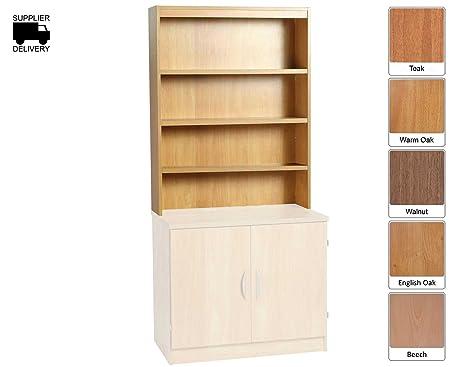 R White Overshelf Unit 3 Shelves OSF H1100xW846xD300mm - Color: Walnut