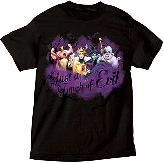 Disney Women's Just a Touch of Evil Villians T Shirt