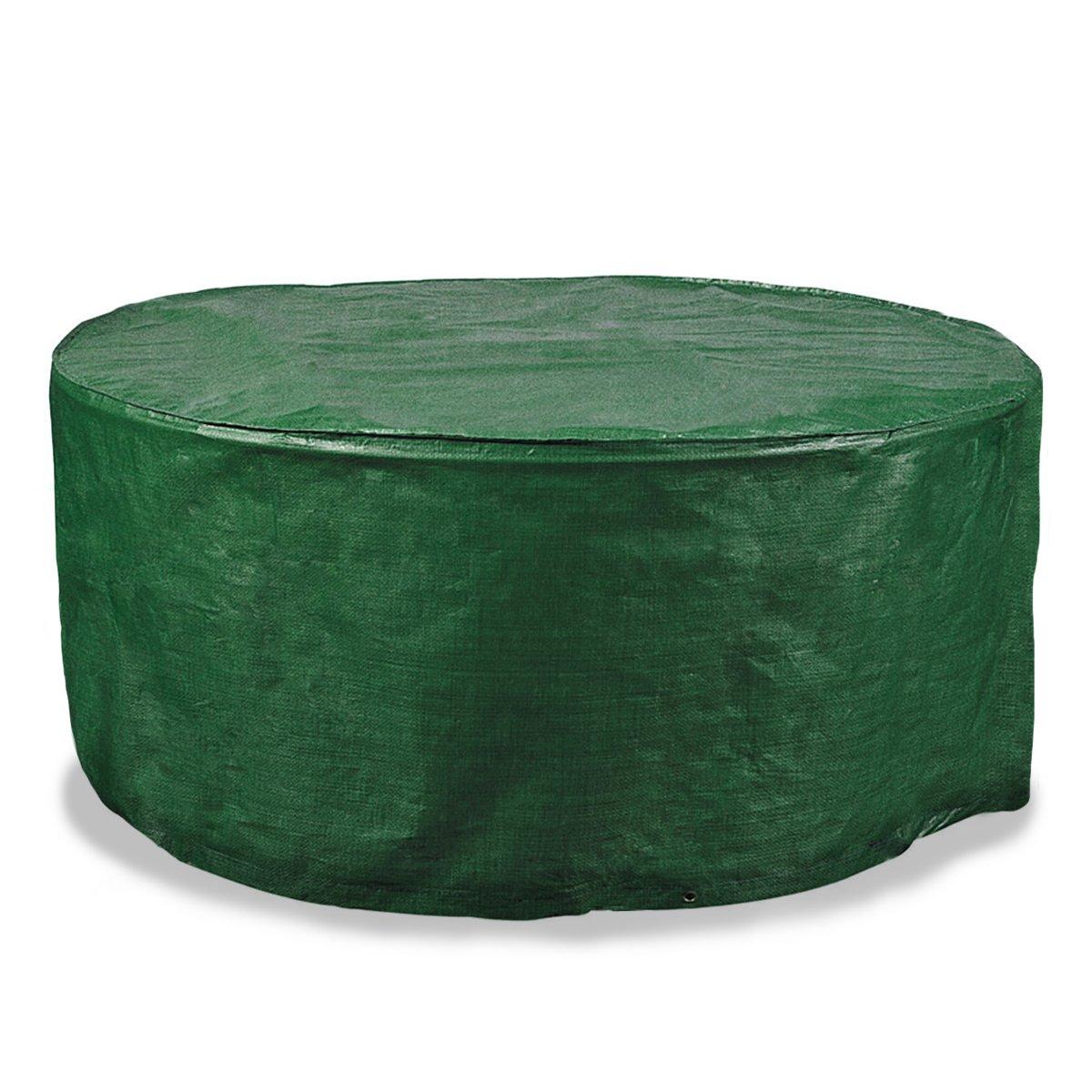 Schutzhülle für runden Gartentisch | wasserdicht, schnelltrocknend, pflegeleicht | 125 x 81 cm