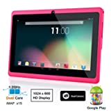 Dragon Touch® 7'' Pink Dual Core Y88 Google Android 4.1 Tablet PC, Dual Camera, HD 1024x600, 4GB, Google Play Pre-load, HDMI, 3D Game Supported (enhanced version of A13)