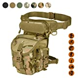 Military Tactical Drop Leg Bag Tool Fanny Thigh Pack Leg Rig Utility Pouch Paintball Airsoft Motorcycle Riding Thermite Versipack, Black/Tan/Army Green/Camouflage...7 Colors (CP Camouflage)