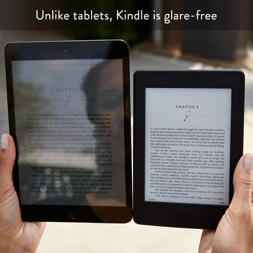 Glare-free Kindle for reading under the sun