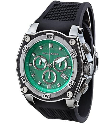 CALABRIA-AVVENTURA-Green-Dial-Chronograph-Men-s-Watch-with-Carbon-Fiber-Bezel