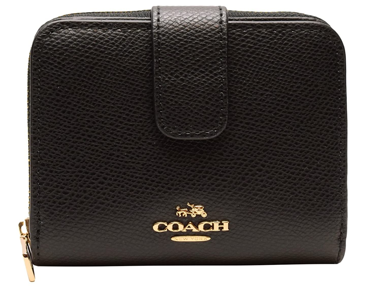 b523d747bea2 COACH☆♪財布☆♪サイフ 二つ折り財布 ブラック レザー PVC f5269