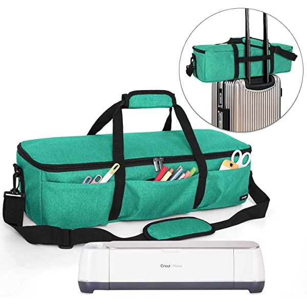 Luxja Foldable Bag Compatible with Cricut Explore Air and Maker, Carrying Bag Compatible with Cricut Explore Air and Supplies (Bag Only), Green (Color: Green, Tamaño: Bag for Machine)